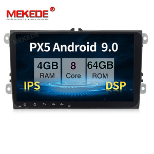 PX5 4 Гб + 64 ГБ Android 9,0 Автомобильный мультимедийный плеер для VW Skoda Octavia golf 5 6 touran passat B6 jetta polo tiguan 8 ядер navi