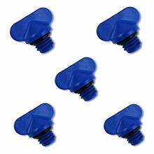 5 PCS Blue Exhaust Manifold Water Drain Plug Kit Replaces 22-806608A1, 22-806608A02,