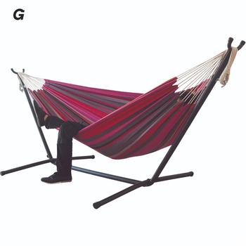 Double Hammock Hanging Chair Large Hammock With Steel Stand For Garden Courtyard Indoors /without Shelf