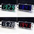 Набор цифровых светодиодных часов «сделай сам», 4-значный дисплей с прозрачным чехлом и таймером, контроль температуры, даты, времени