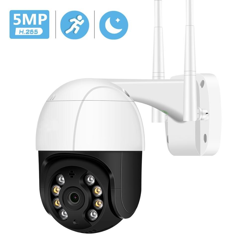 5MP H.265 PTZ IP Camera Wifi Outdoor ONVIF P2P RTSP 1080P HD 3MP Wifi Camera Wireless Audio AI Human Detect Security CCTV Camera 1