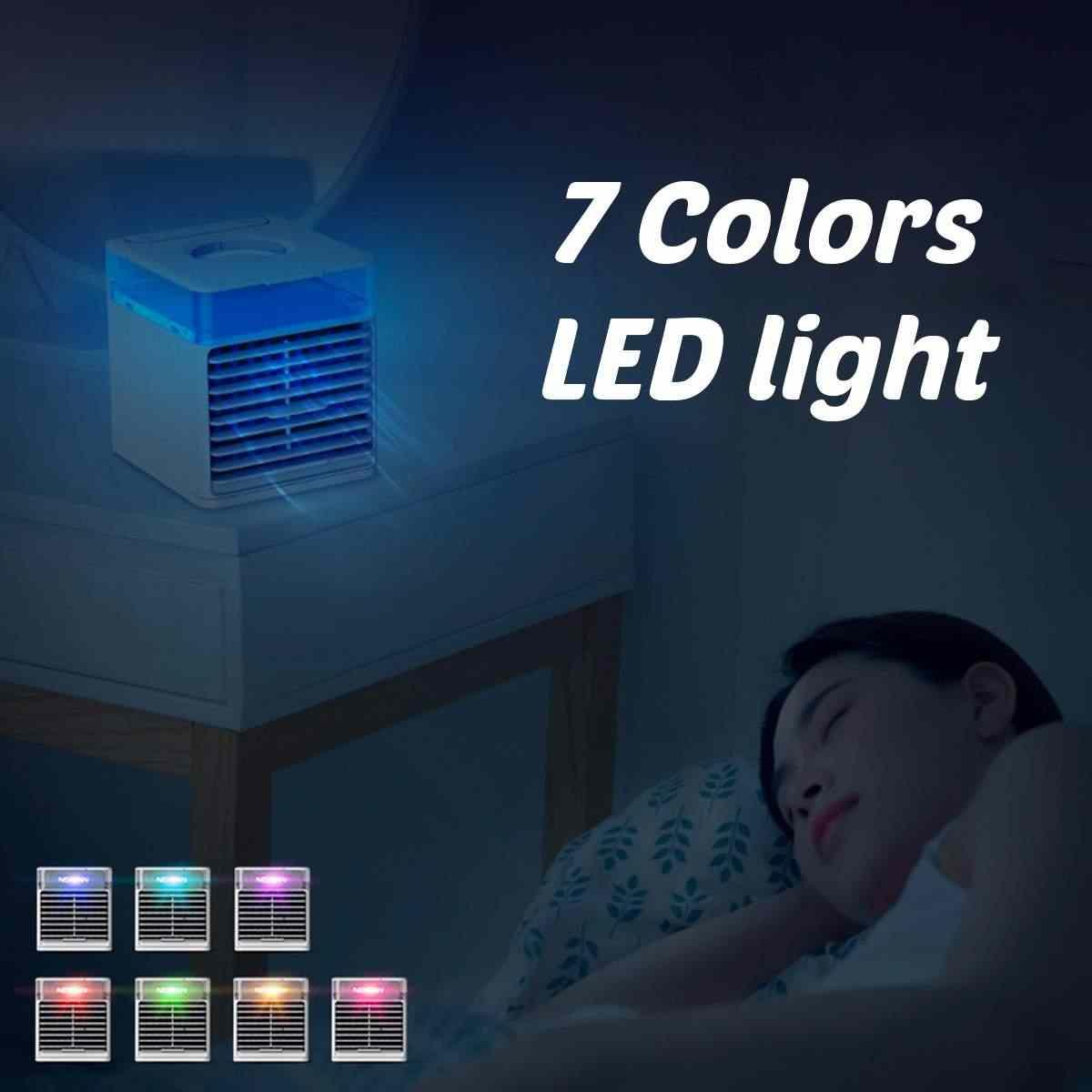 Домашний мини-кондиционер 500 мл портативный воздушный охладитель 7 цветов светодиодный USB персональный космический кулер вентилятор воздушного охлаждения перезаряжаемый вентилятор