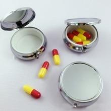 1 Pcs Portable Metal Travel Pillbox Medicine Organizer Container Medicine Case S