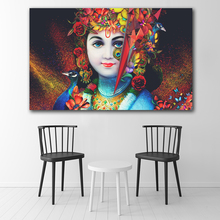 Hindu God Radha Krishna Love HD Wall Art Canvas Poster and Print Canvas Painting Decorative Picture for Living Room Home Decor radha