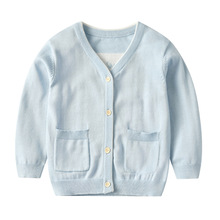 Spring & Autumn Cotton Sweater Top Cardigan Fille Baby Children Clothing Boys Girls Knitted Cardigan Sweater Kids цена 2017