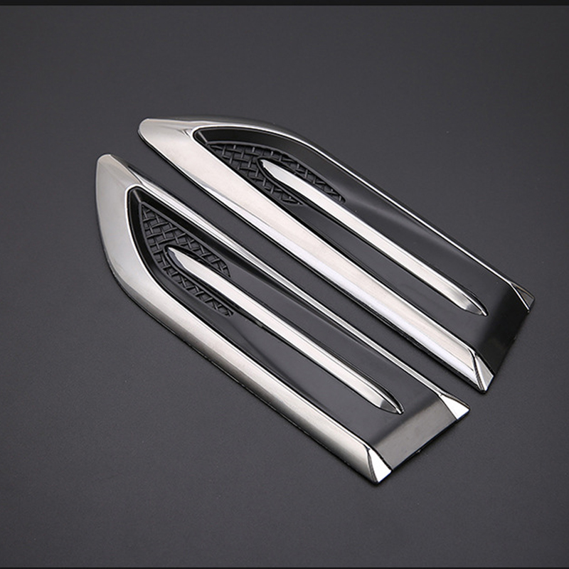 Car side air outlet fender hood decorative for BMW 1 <font><b>2</b></font> <font><b>3</b></font> 4 <font><b>5</b></font> 6 7 Series X1 X3 X4 X5 X6 E60 E90 F07 F09 F10 F15 F30 image