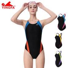 Um pedaço maiô yingfa 976 treinamento profissional esporte mulheres banho de secagem rápida feminino