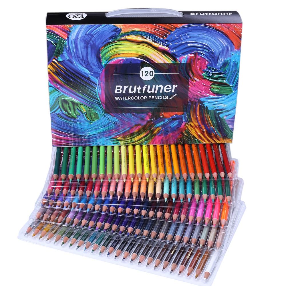 180 Colors Professional Oil Color Pencils Set Artist Painting Sketching Wood Color Pencil Lapis De Cor For School Art Supplies