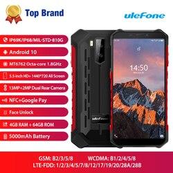 Ulefone Armor X5 Pro NFC 4G LTE мобильный телефон Android 10 прочный водонепроницаемый смартфон IP68 MT6762 сотовый телефон 4 Гб 64 Гб Восьмиядерный