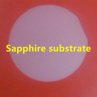 Sapphire substrate / wafer 4x0.7mm / single sided polishing / size can be customized / epitaxial wafer / LED grade