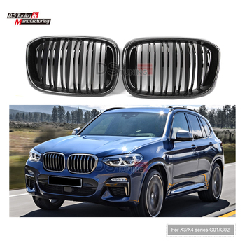 Carbon Kidney Grille For BMW X3 X4 Series G01 G02 Doule Line Racing Grills 2018-IN