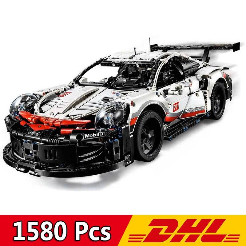 New Technic Series Supercar 20097 1580Pcs 911 RSR Car Building Blocks Bricks Compatible Legoings 42096 Toy Children Gift Present