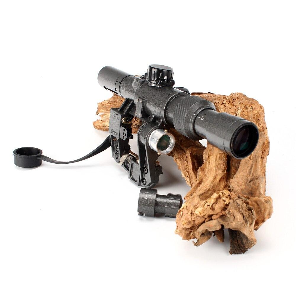 Tactical Rifle Scope Red Illuminated 3-9x24 SVD Sniper RifleScope