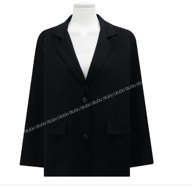 New suits Female Vintage Autumn Office Ladies Notched Collar black Women Blazer Breasted Jacket Casual Pockets Female Suits Coat 6