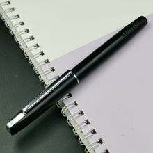 Old Stock Hero Matte Black fountain pen Ink Pen F Nib Push and Pull Type Converter Stationery Office school supplies