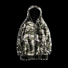 Camouflage hoodie Autumn and winter men's long zipper hooded sweatshirt men's warm plus velvet thick camouflage printed hoodie цена в Москве и Питере