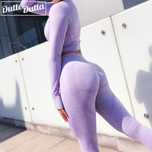 Seamless Gym Clothing Women Gym Yoga Set Fitness Workout Sets Yoga Top And Athletic Legging Women's Sportswear Suit(China)