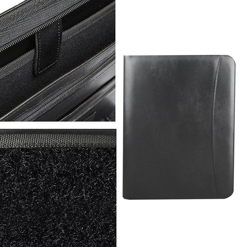 Image 4 - Vegan Leather Folder Zippered Closure Portfolio for Business IPad/Table and Card Interview Resume Binder-in File Folder from Office & School Supplies