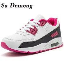 Zapatos informales para niños, zapatillas de cuero sintético para correr, amortiguación de aire, de fondo suave