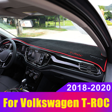 Car Dashboard Avoid Light Pad Instrument Platform Desk Cover Mat Carpets LHD for Volkswagen VW T-ROC TROC -2020 Accessories bjmycyy storage and arrangement of internal accessories of automobile central storage box for volkswagen t roc troc t roc 2018