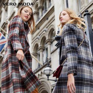 Image 4 - معطف نسائي من Vero Moda بطية صدر منقوشة وطويل من الصوف المستقيم