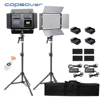 capsaver TL 600S 2 in 1 LED Video Light Photographic Lighting Remote Control Camera Photo Lamp with Tipod Battery for Youtube