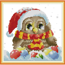 Joy Sunday,Owl,cross stitch embroidery kit,Cartoon cross pattern,cross needlework,Animal pattern kit