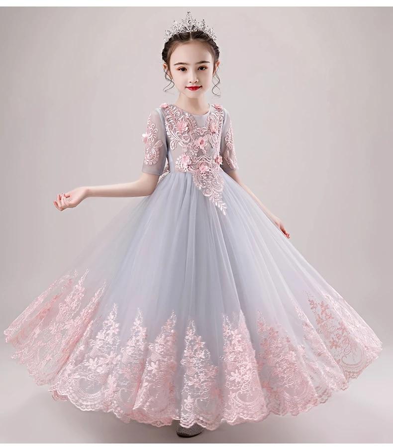 New Luxury Girl Princess Ball Gown Wedding Tutu Dresses Long Gown Kids Party Flower Girl Dresses Children Evening Prom Frocks Dresses Aliexpress