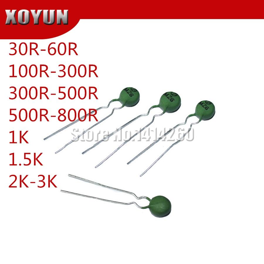 50pcs PTC Thermistor MZ6 6MM 30R-60R 100R-300R 300R-500R 500R-800R 1K  1.5K 2K-3K