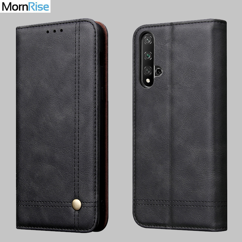 Luxury Retro Slim Leather Flip Cover For <font><b>Huawei</b></font> <font><b>Nova</b></font> <font><b>5T</b></font> <font><b>Case</b></font> Wallet Card Stand Magnetic Book Cover For <font><b>Nova</b></font> <font><b>5T</b></font> <font><b>Mobile</b></font> Phone <font><b>Case</b></font> image