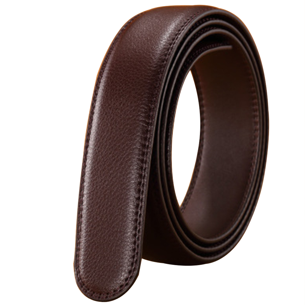 Waist Strap Men's Belt Without Buckle Automatic Ribbon Vintage Headless 14 Lines Durable Business Luxury Leather