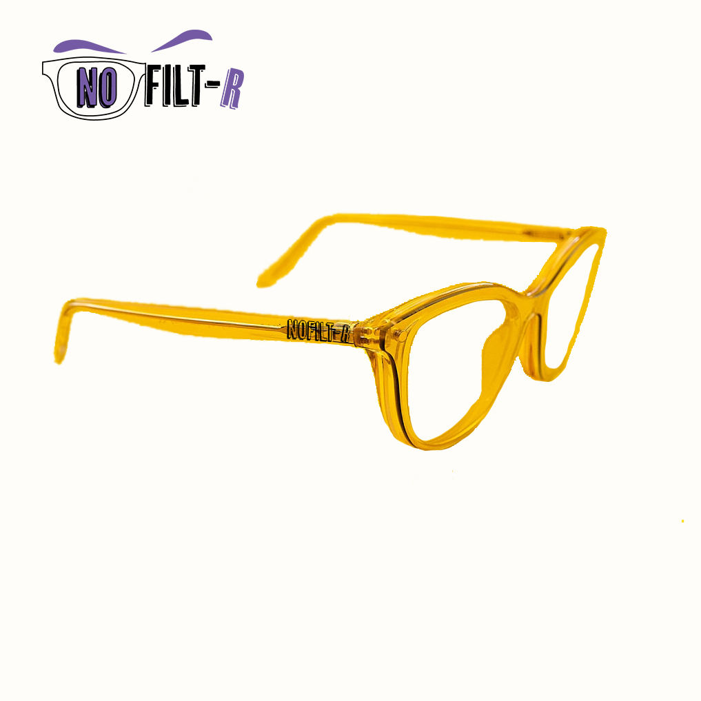NOFILT-R Glasses Without Crystals Unisex Wayfarer Style, Plastic Mount, Ultra-light, Various Colors