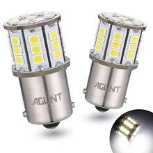 Светодиодный фонарь AGLINT 2X 1156, чипы 2835 33-EX P21W Ba15s, используются для задних огней, указателей поворота, белый 12/24 в