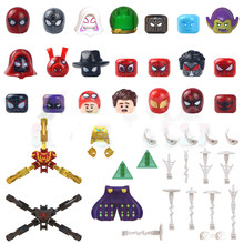 Figure Head Spider MJ Miles Mysterio Nick Furry Prowler Far From Home Heroes Building Blocks Movie Series Bricks Toys For Kids