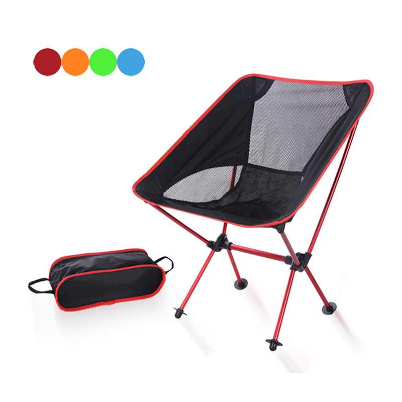 High Portable Ultralight Folding Chair With Storage Bag Aluminum Alloy Oxford Chairs  Outdoor Sport Camping Hiking Fishing LG66