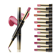 10 Color 2 In 1 Double End Matte Lipsticks Lipliner Set Makeup Waterproof Lasting Beauty Cosmetics Not Fade