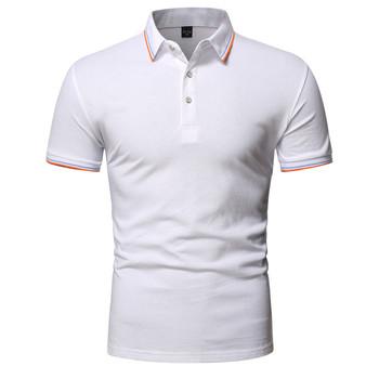 2020 nowa koszulka polo męska Casual business koszulka polo mężczyźni wysoka marka jakości męska koszulka polo letnia koszulka polo z krótkim rękawem męska tanie i dobre opinie TJWLKJ Na zakupy Pełne Na co dzień summer CN (pochodzenie) POLIESTER REGULAR NONE Stałe oddychająca Kolor kontrastu