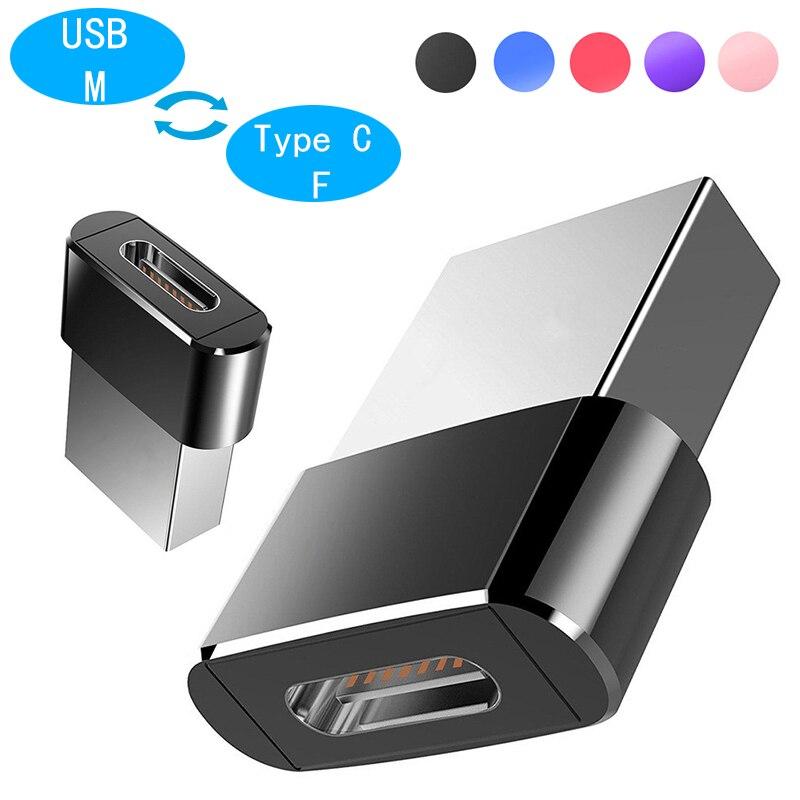 Metal USB Male To Type C Female OTG Adapter USB C Converter For Xiaomi Nexus 5x 6p Oneplus 3 2 Macbook USB Type-C Cable Adapter