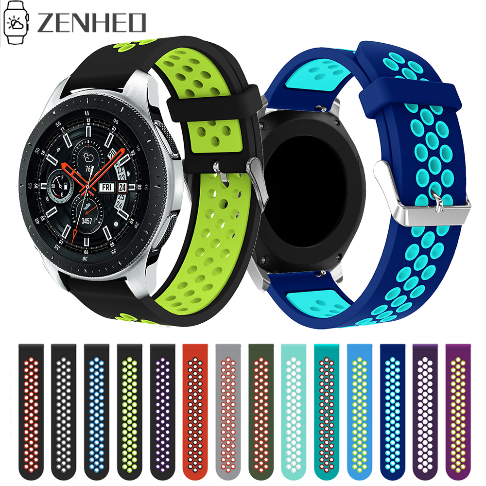 22mm Silicone Watchband For Samsung Gear S3 Frontier/Classic Watch Strap Bracelet For Samsung Galaxy Watch 46mm Wrist Band