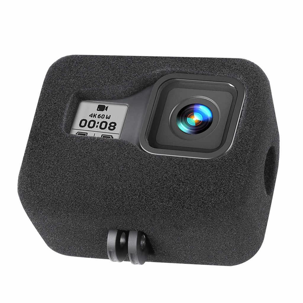 reduce el ruido del viento para una grabaci/ón de audio /óptima espuma para parabrisas Paquete de 2 fundas para parabrisas para GoPro Hero 8 color negro