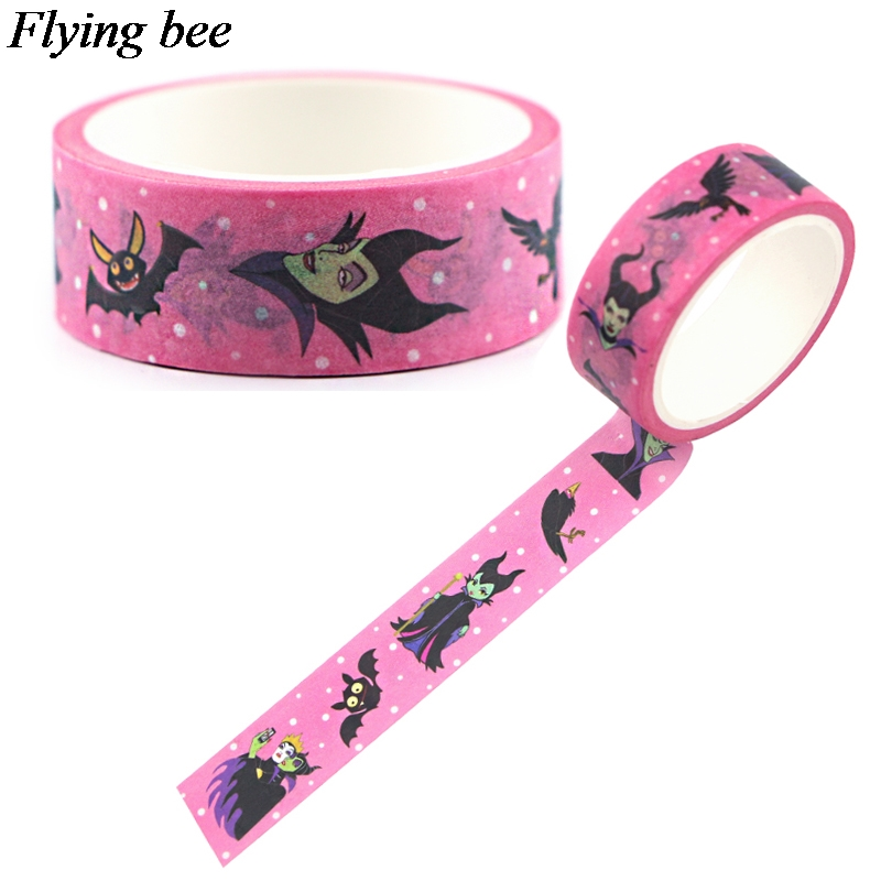 Flyingbee 15mmX5m The Evil Queen Washi Tape Paper DIY Decorative Adhesive Tape Stationery Masking Tapes X0686
