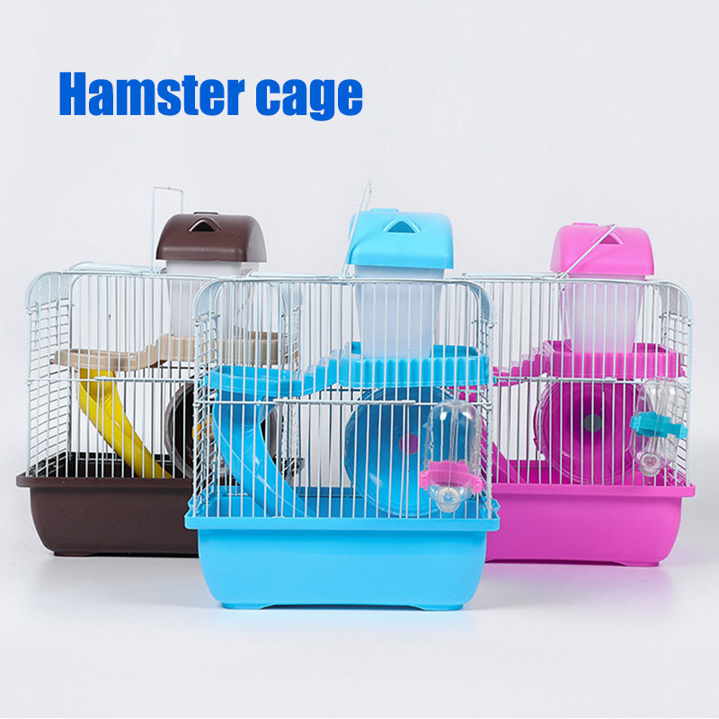 Hamster Cage Multifunctional font b Pets b font House Villa Travel Cage for Small Animals FAS6