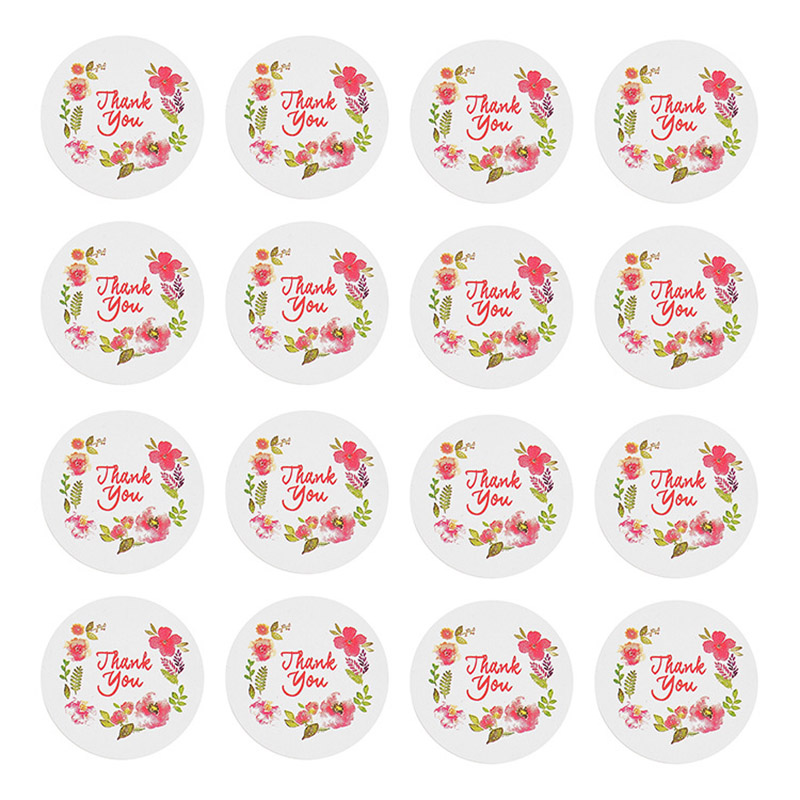 16Pcs Cute Thank You Stickers Kawaii Label Sticker Lessing Adhesive Sticker For Kid DIY Decor Scrapbooking Diary Albums Supplies