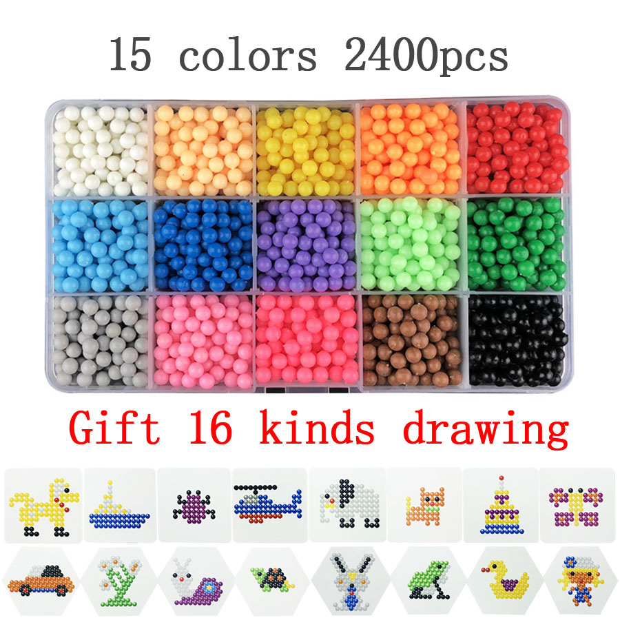 5000pcs 24 colors Refill Beads puzzle Crystal DIY water spray beads set ball games 3D