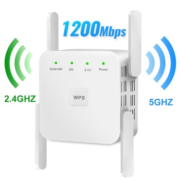 5Ghz Wireless WiFi Repeater 1200Mbps Router Wifi Booster 2.4G Wifi Long Range Extender 5G Wi-Fi Signal Amplifier Repeater Wifi 1