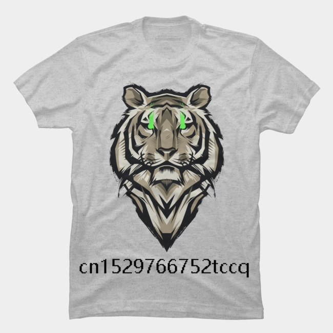 Moda verão impresso masculina 100% algodão t camisa majestoso tigre masculino legal manga curta t camisa