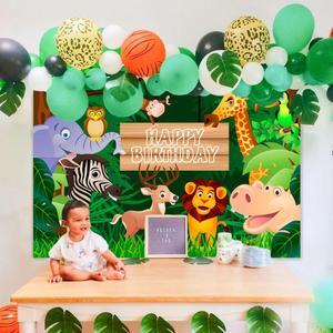 HUIRAN Wild one 1st Birthday Party Decorations Kids Jungle Safari Party Supplies Baby Shower Jungle Theme First Birthday Decor
