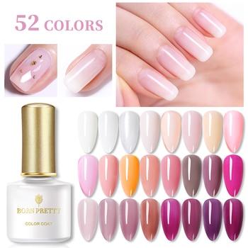 BORN PRETTY Opal Jelly Gel Polish 52 Colors 6ml Pink Jelly Soak Off UV Gel Base Coat No Wipe Top Coat Cat Eye Nail Art Varnish недорого
