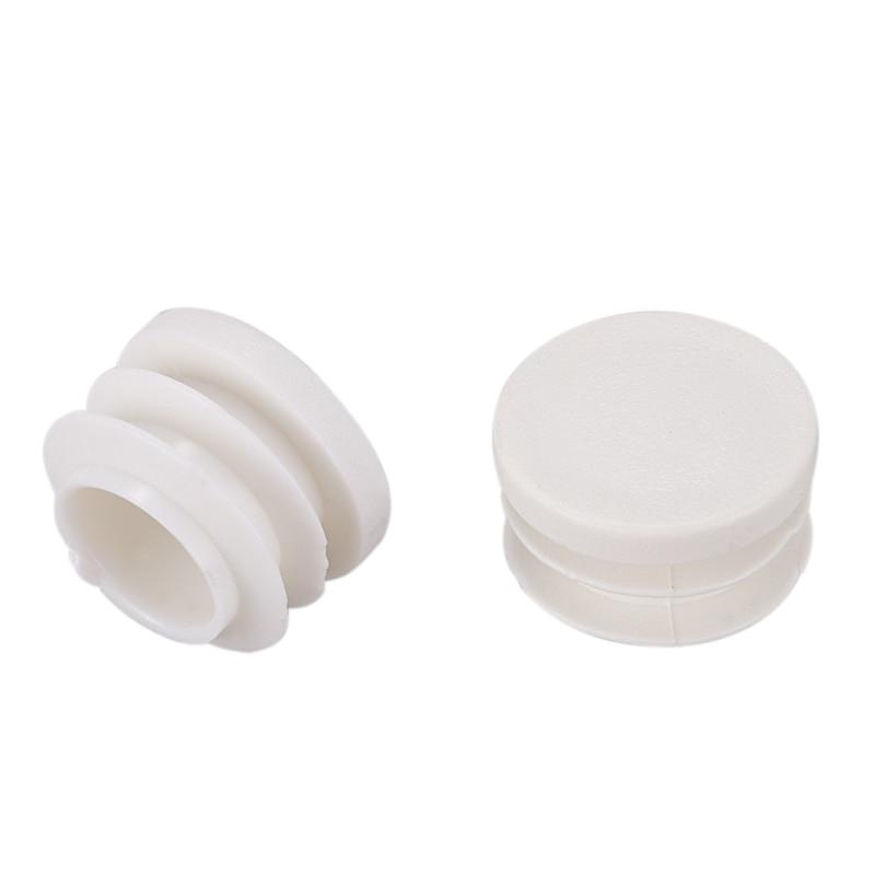 18mm Diameter Plastic White Plug Caps Inserts For Tubes Cap 24 Pieces