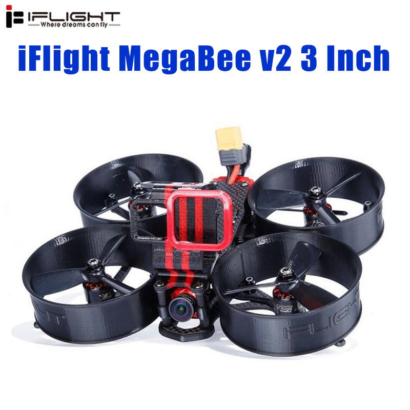 IFlight MegaBee 3 pouces Cinewhoop FPV Drone de course BNF F4 contrôleur de vol 2-4S 35A ESC 500mW VTX Support GoPro5/6/7 4K Cam